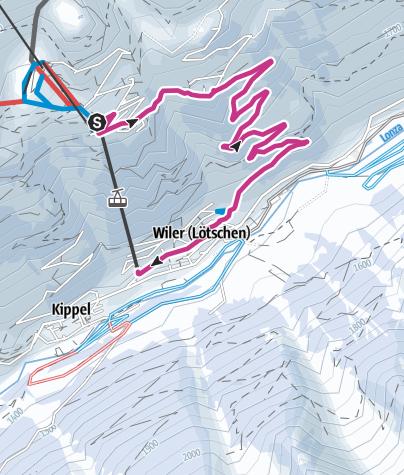 Karte / Der Vielseitige: Lauchernalp - Wiler