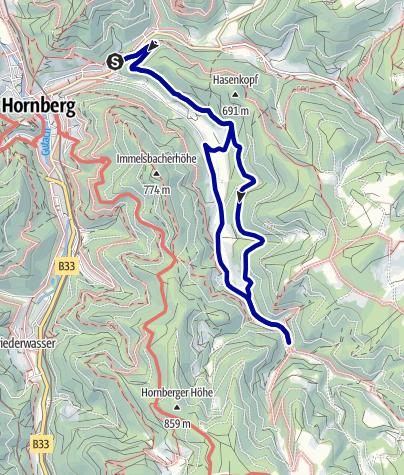 Karte / Hornberg - Kleine Runde auf dem Mühlenwanderweg