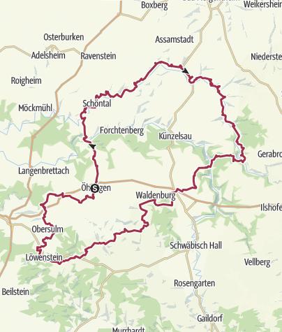 Karte / Die Hohenloher Runde - Begegnung von Natur und Kultur