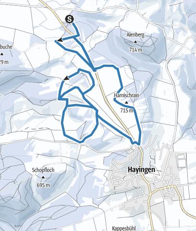 Map / Cross- country skiing Hayingen
