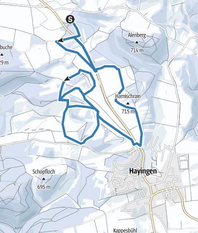 Karte / Tennisplatzloipen Hayingen