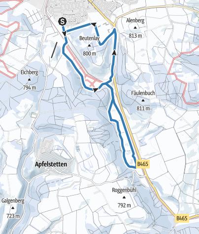 Karte / Beutenlayloipe Münsingen