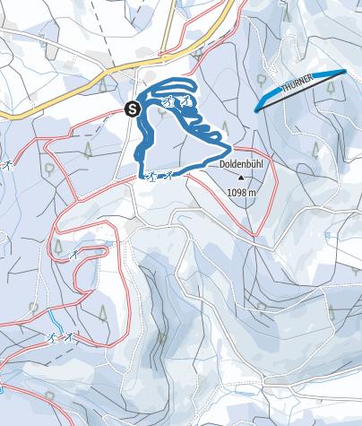 Karte / Thurnerspur Nachtloipe
