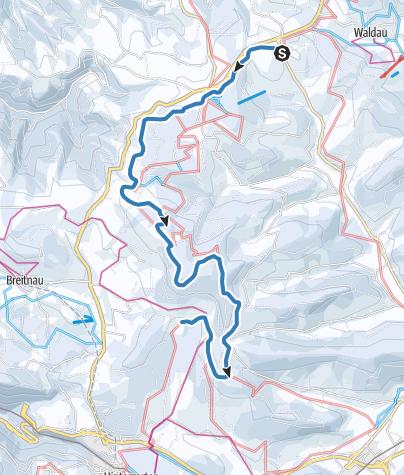 Karte / Fernskiwanderweg Schonach-Belchen - Etappe St. Märgen