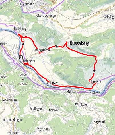 Karte / RouteWT 4 - Küssaburg Tour
