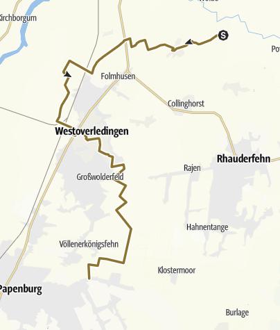 Map / Durchritt durch Westoverledingen