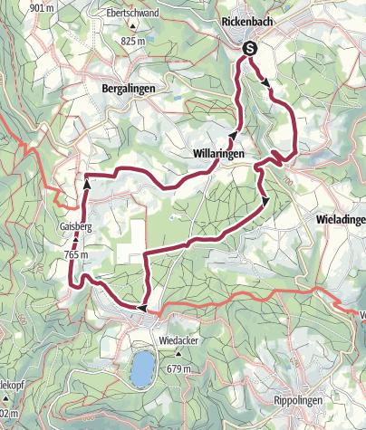 Karte / Rickenbach: Auf der Sonnenterasse des südlichen Hotzenwaldes.