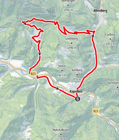 Karte / BergRadlRunde Urani im Naturpark Mürzer Oberland