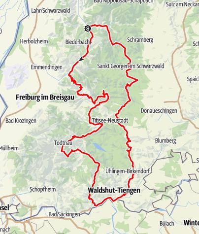 Karte / Der Hochschwarzwald