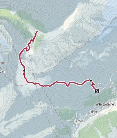Map /  Lötschenpass Hike