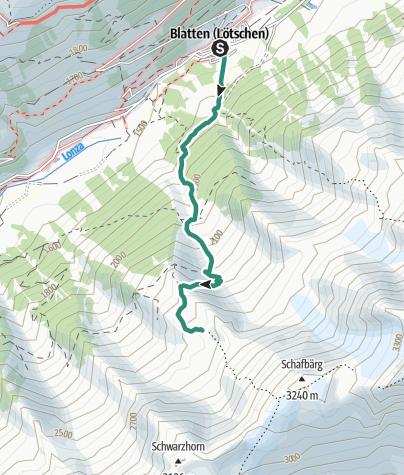 Map / Bietschhorn Hut (from Blatten)