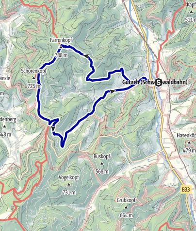 Karte / Gutacher Farrenkopftour