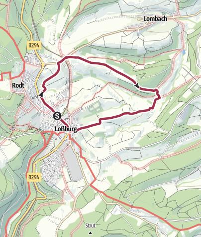 Karte / Panoramaweg Loßburg