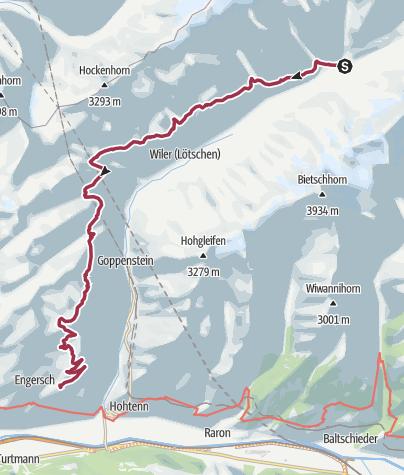 Map / Extension Faldumalp - Jeizinen (oberi Meiggu)