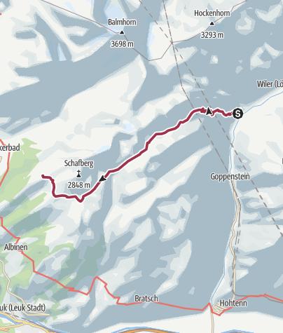 Map / Leukerbad - Restipass - Ferden