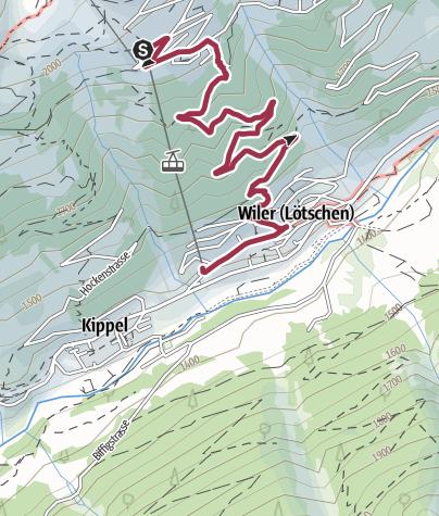 Map / Lauchernalp - Wiler (Baann)