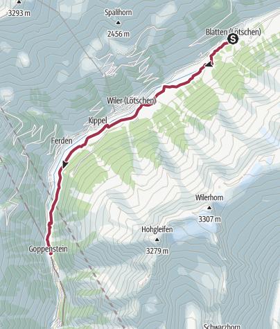 Carte / Itinéraire culturel du Lötschental