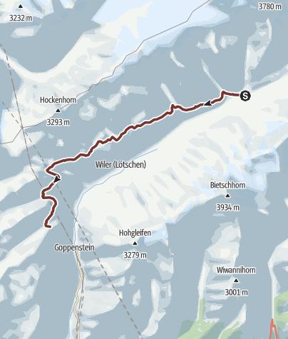 Karte / Kapellen am Lötschentaler Höhenweg