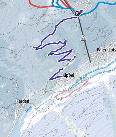 Carte / Lauchernalp - Kippel