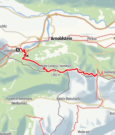 Karte / Etappe 01 NEU - Panoramaweg Südalpen: Etappe Thörl-Maglern - Wurzenpass
