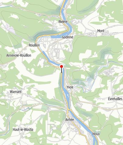 Kaart / La dalle du Beaupère (Anhée)