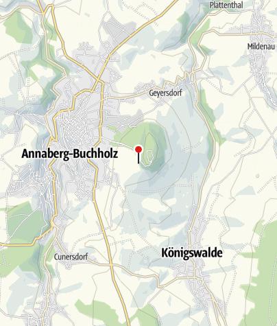 Karte / Annaberg-Buchholz, Pöhlbergrundgang 1. Aussichtspunkt