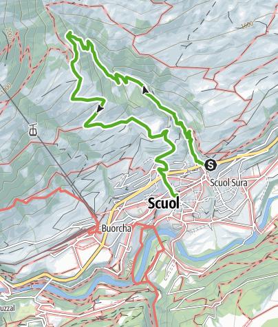 Karte / Clozza-Schlucht: Natur pur