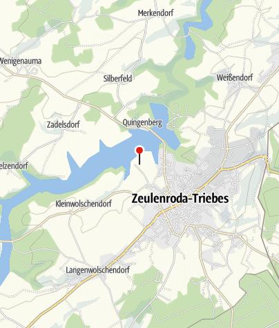 Karte / Wohnmobilhafen Zeulenrodaer Meer