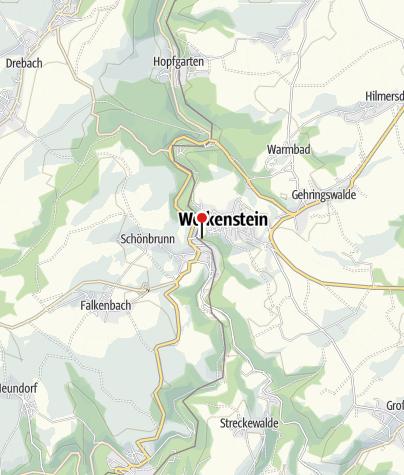 Karte / Wolkenstein, Aussichtspunkte am Schloss Wolkenstein