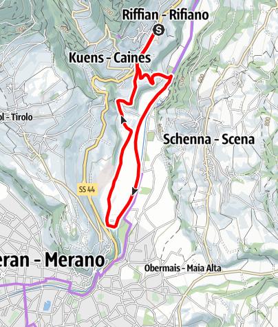 Kaart / Biketour in Riffian