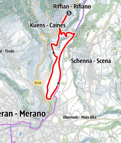 Karte / Biketour in Riffian