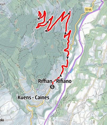 Karte / Biketour nach Vernuer