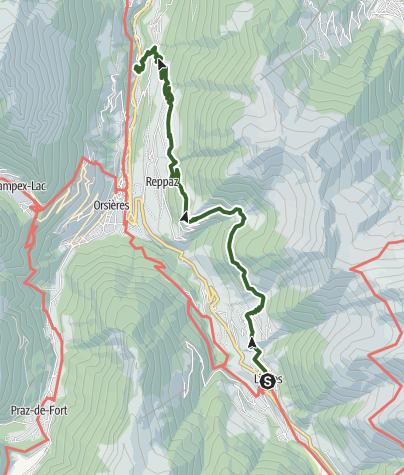 Cartina / Tour des villages (Val d'Entremont)