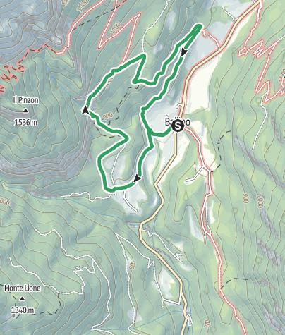 """Map / Via Ferrata """"Signora delle Acque"""" al Rio Ruzza - Ballino"""