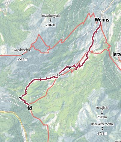 Map / Pillerhöhe - Wenns