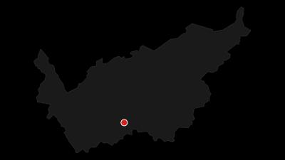 Carte / Circuit vers la cabane des Aiguilles Rouges et le lac Bleu
