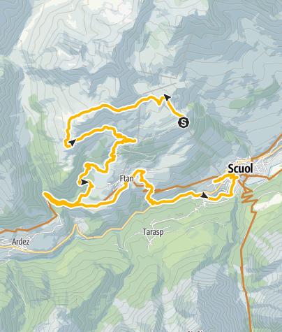 Karte /  Alp Clünas – Val Tasna
