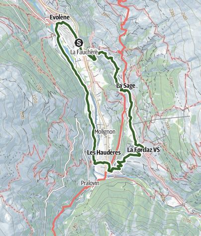 Map / Tour des villages (Val d'Hérens)