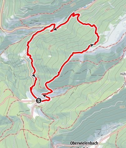 Mapa / Bergtour auf die Geige in Tesselberg