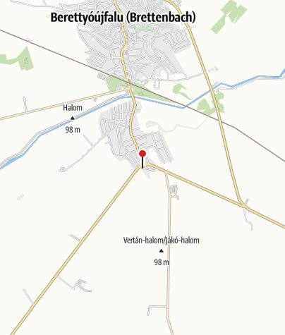Karte / MOL kút (Berettyóújfalu, 47.sz.fkl.út)