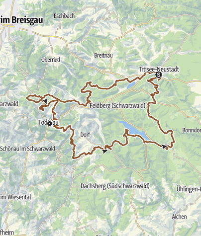 Karte / Gipfeltrail Hochschwarzwald - 2-Etappentour