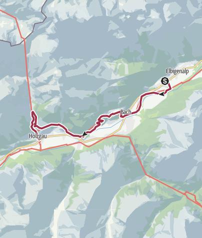 Kaart / Elbigenalp - Holzgau