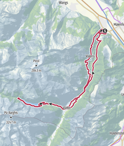 Map / E-Bike Gigerwald - St. Martin