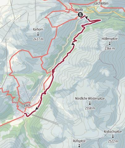 Kaart / Warth - Lech