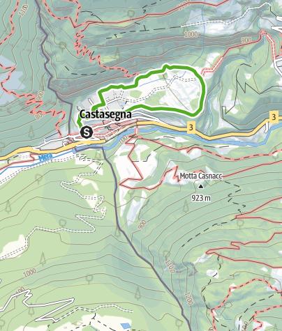 Karte / Kastanienlehrpfad Castasegna