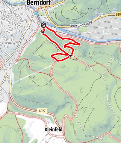Karte / Waldlehrpfad Berndorf Guglzipf