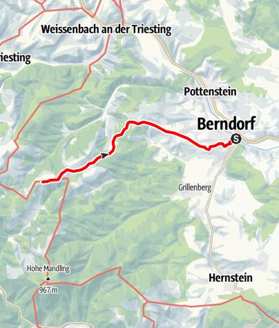 Karte / Klassischer Weg zum Waxeneckhaus