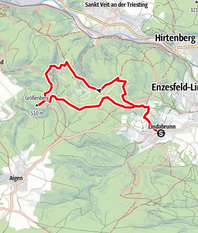 Mapa / Über Berg und Tal – Pfarrkogel – Aichgraben - Größenberg