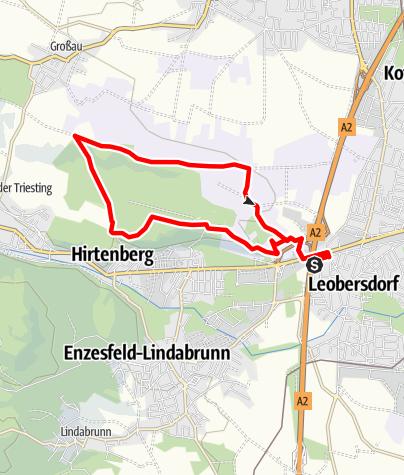 Térkép / Leobersdorfer Lindenbergrunde