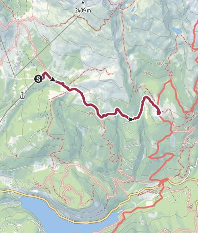 Cartina / Col passeggino da La Morea a Malga Bocche